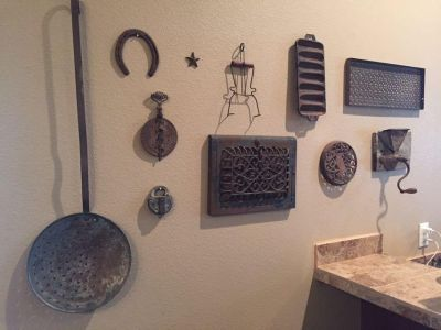 Entire collection of rustic metal decor