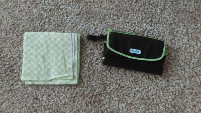 Portable changing pad and large burp cloth