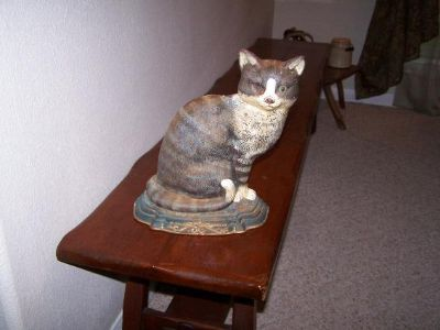 $65, Vintage Cat Shape Cast Iron Door Stop