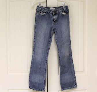 Tommy Hilfiger Worn Hipster Boot sz 4 x 30 Long Jeans Faded Distressed Denim