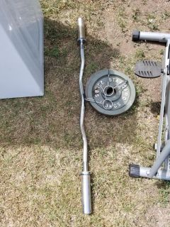 Weight bar with 2 25lb weight
