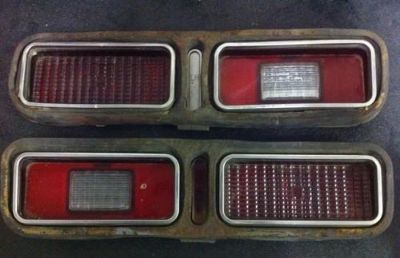 Purchase 1973 1974 CHEVY NOVA STAINLESS TAIL LIGHT w/Trim motorcycle in Island Lake, Illinois, US, for US $98.99