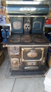 Antique Cast Iron wood, coal stove from 1912.