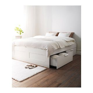 Queen Bed, Base and 4 large Drawers