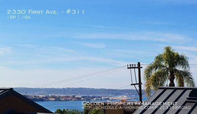 Bankers Hill-1BR 1BA Condo with Views of Bay-Gated-Granite/Stainless Kitchen-Parking-Patio-Dog OK