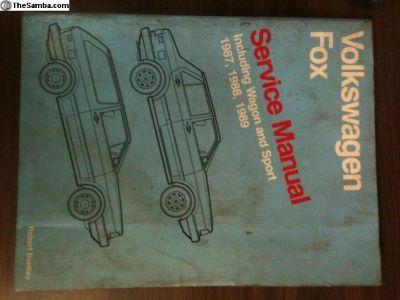 Bentley repair manual 87-89 Fox inc. Wagon