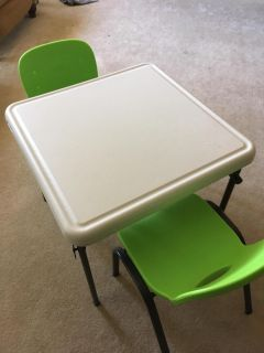 Excellent Condition-Lifetime, Adorable, Great Quality Table and Two Chairs for Small Children