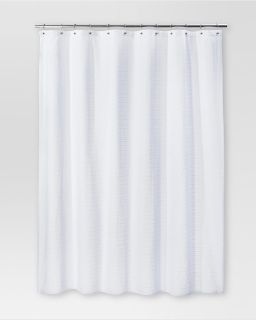 Threshold Woven Striped Shower Curtain