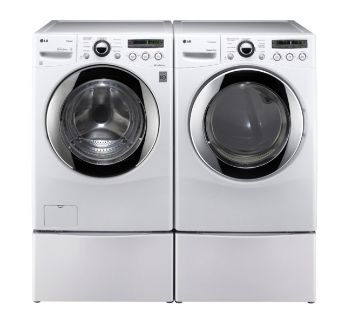 """**SEE COMMENT SECTION FOR MORE PICS** 27"""" Laundry Pedestals from LG - Set of 2"""