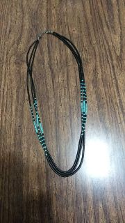 Older piece turquoise and sterling silver necklace