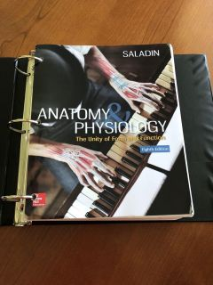 Anatomy and Physiology book and lab manual
