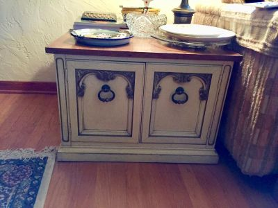 French Provincial side table/ storage