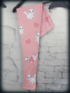 Kitten with Heart LaLa Leggings FREE SHIPPING