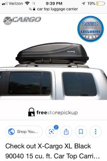 ISO Roof top luggage carrier