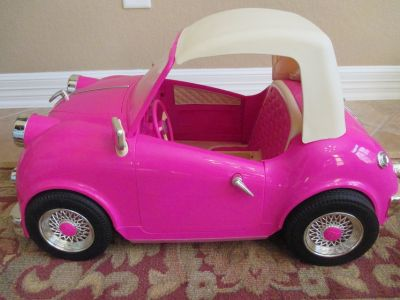 "Our Generation Doll Pink Retro Convertible Car for 18"" Dolls / American Girl"