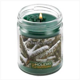 45-hrs Soy Scented Lidded Jar Candle ~ Winter Pine ~ New