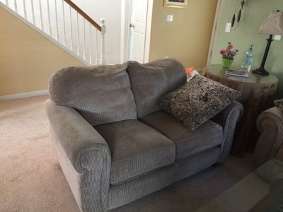 Sofa with Matching Love Seat