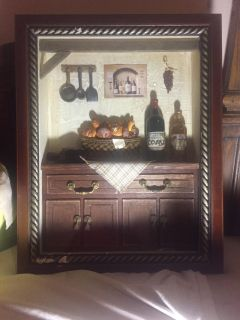 Country style kitchen inside picture frame