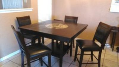 High Top Dining Room Table w/ Lazy Susan