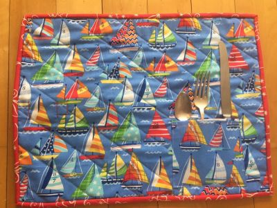 Sail boat placemat