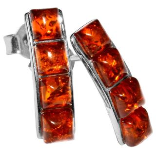New - Authentic Baltic Amber 925 Sterling Silver Earrings