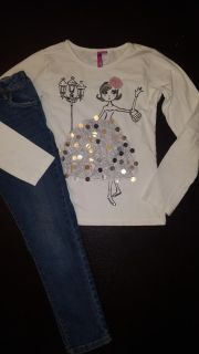 Sequence top and jeans size 9-10