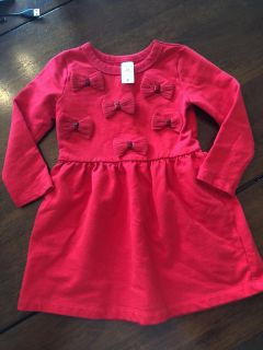 2t red bow dress carters