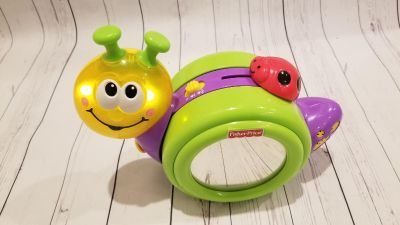 Fisher price baby mirror crawling toy