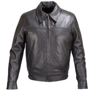 Mens Black Lambskin Leather Bomber Classic Fit Jacket fj5