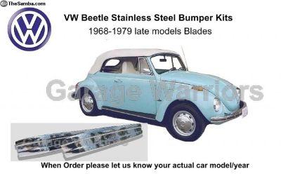 1968-1979 VW Beetle Stainless Steel Bumper