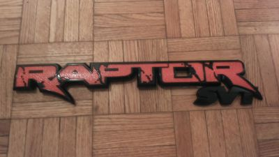 """FORD RAPTOR OEM 15"""" QUALITY ABS REPLACEMENT TAILGATE EMBLEM."""
