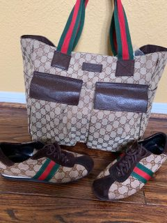 Gucci Tote Bag & shoes 61/2 set