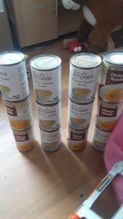 12 cans of chicken noodle soup