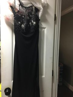 Black long dress with beads
