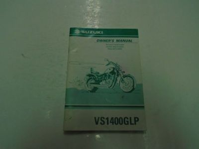 Sell 1999 Suzuki VS1400GLP Owners Manual WORN MINOR STAINS FACTORY OEM DEALERSHIP *** motorcycle in Sterling Heights, Michigan, United States, for US $21.95