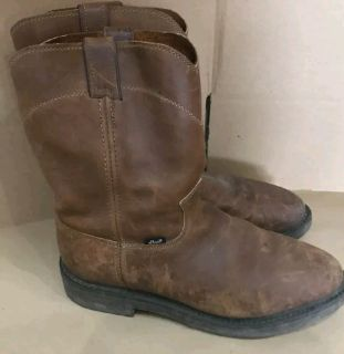 Mens Justin Work Boots Size 11D