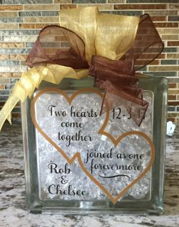 Personalized Lighted Wedding Announcement