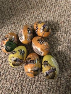 9 WRAPPED EGGS WITH M&Ms