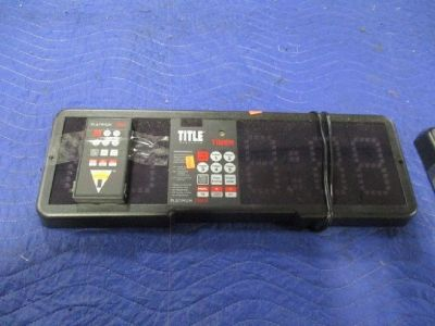 Title Boxing Professional Gym Timer w/Remote RTR# 8123605-08,09