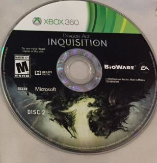 Dragon Age: Inquisition Microsoft Xbox 360 *Disc 2 only*