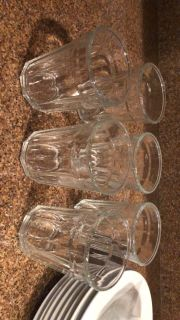 6 water glasses and 4 juice glasses