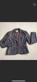 Micheal Kor s Soft Brown Pinstripe Blazer Sz 4
