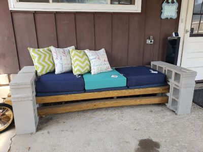 Outdoor seating patio bench