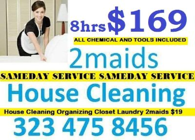 house cleaning same day $45