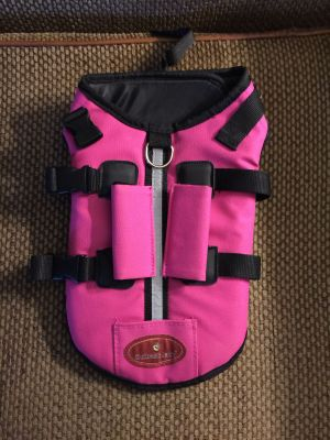 New dog life jacket