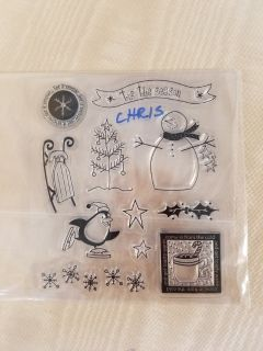 Christmas stamps and stickers