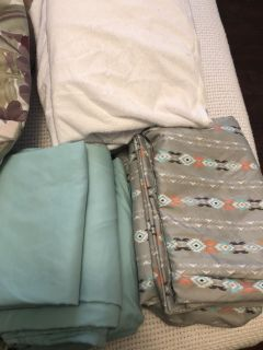 Twin sheet sets and 2 mattress covers