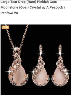 Peacock Opal Necklace and Earring Set