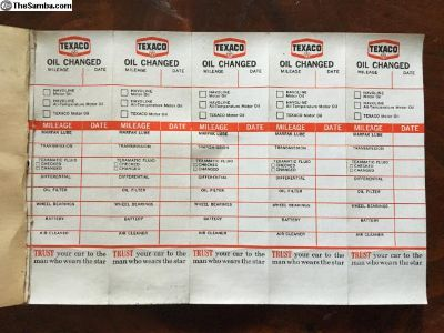 NOS oil change stickers