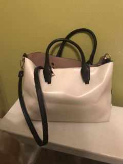 Black and off white Purse